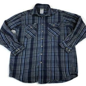 Carhartt  Large Blue Plaid Long Sleeve Shirt